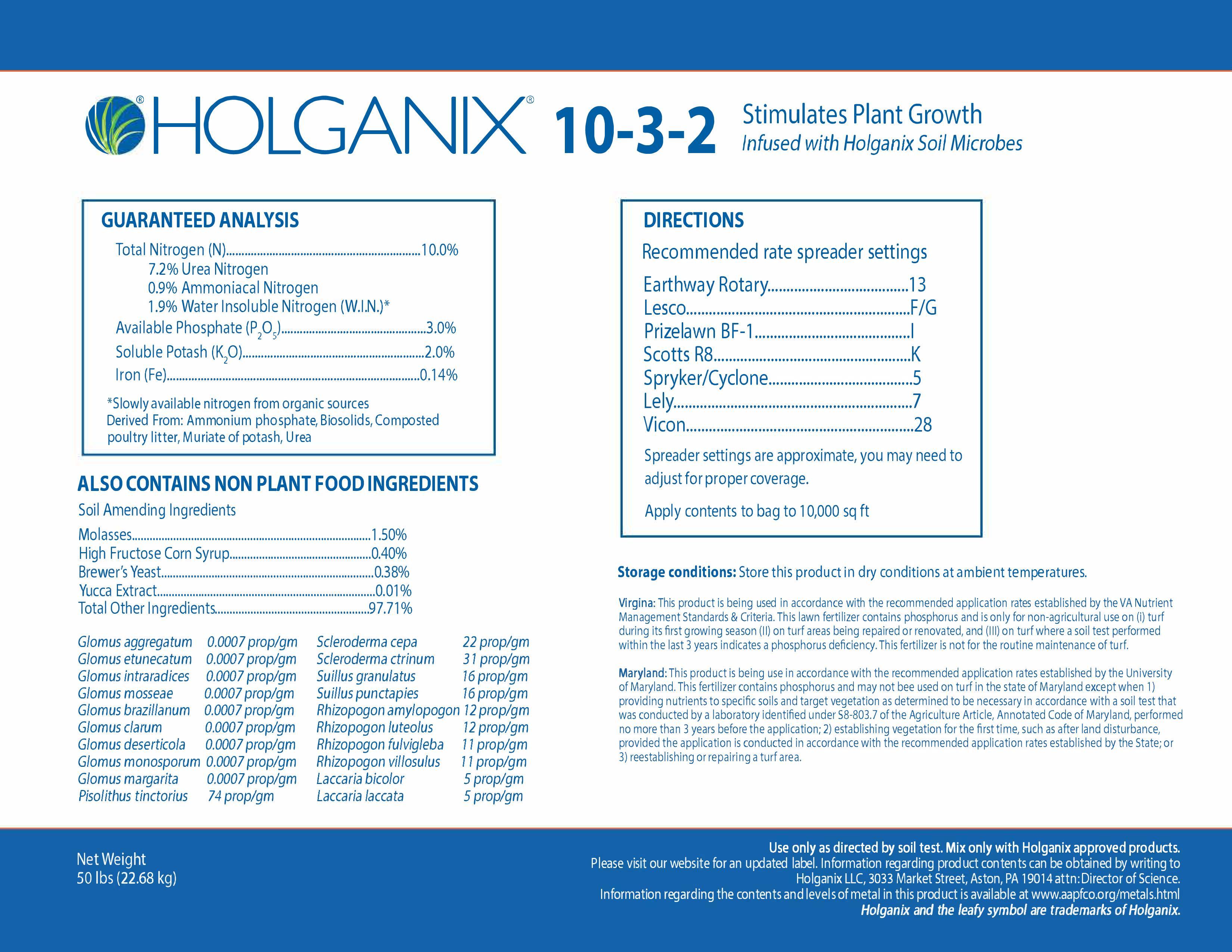 Holganix Granular 10-3-2 Universal