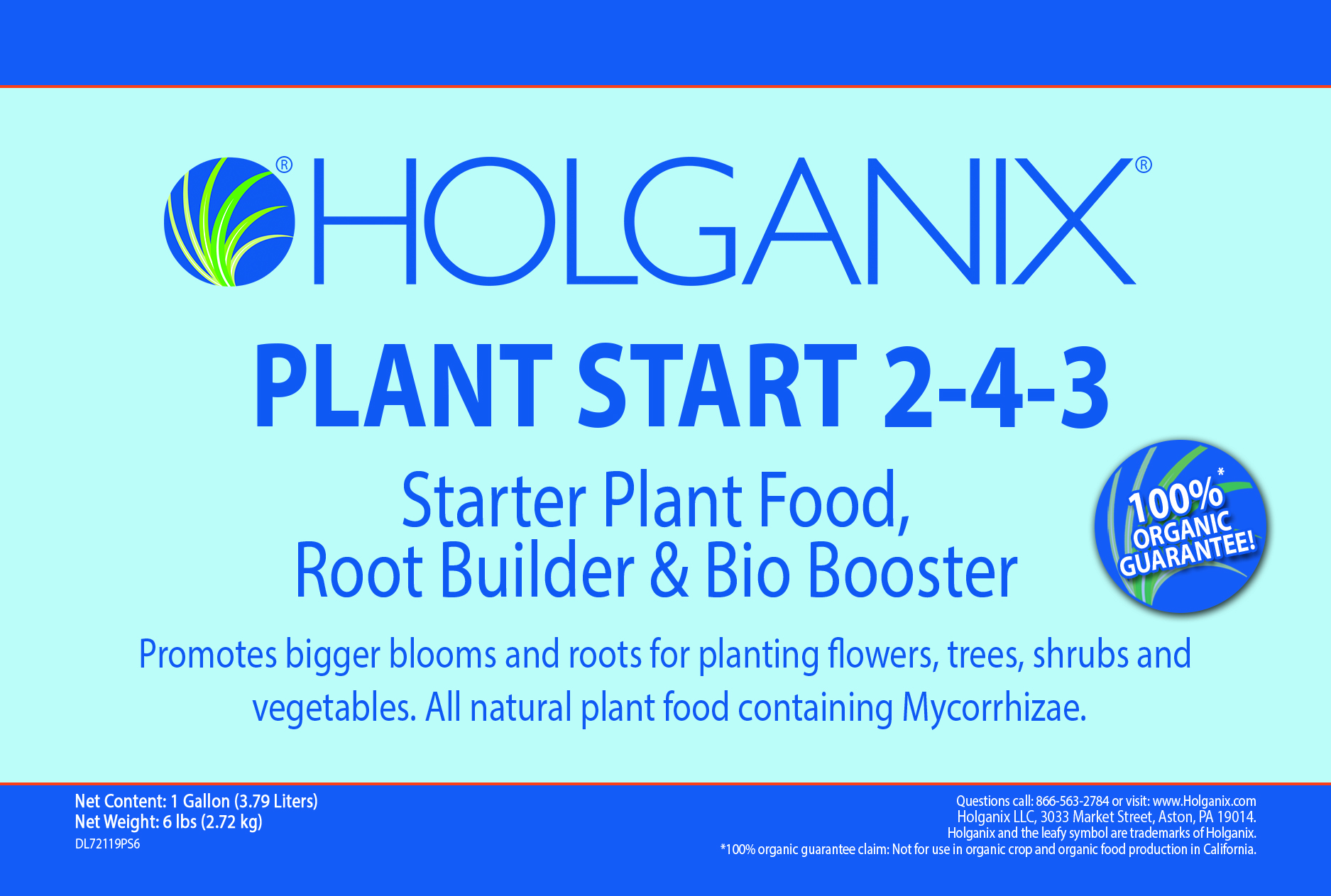 Plant Start Granular label
