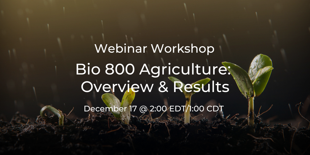 Bio 800 Agriculture