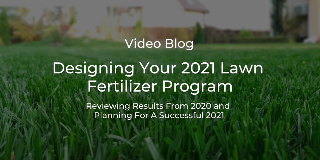 lawncare fertilizer program